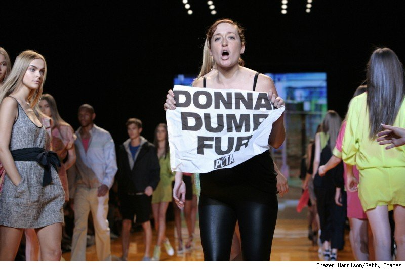 PETA protester