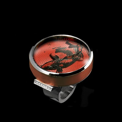 Guilloche Negoro Artisan Ring