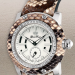 Glam Rock Python Watch, Brown