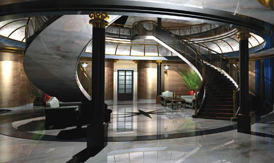 Rendering of the Eclipse's foyer
