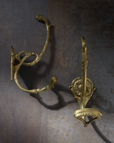 Pair of Coat Hooks, c. 1900, France