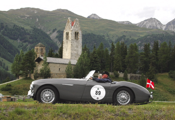 Austin Healey in Switzerland