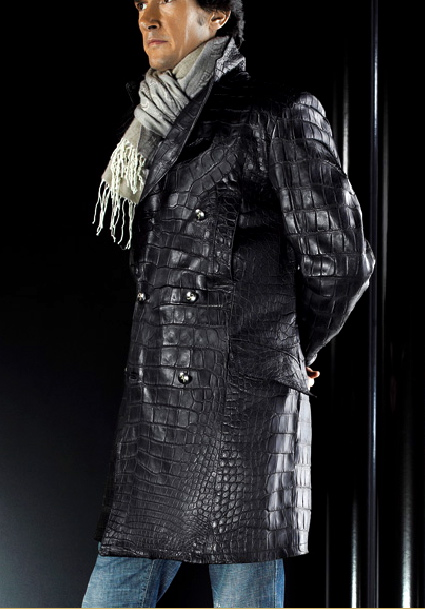 Crocodile overcoat