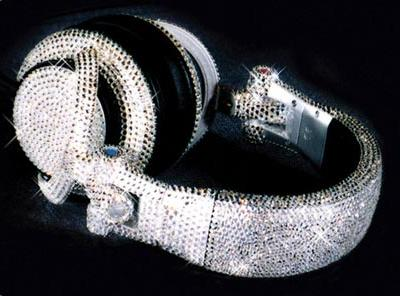 Swarovski-studded headphones