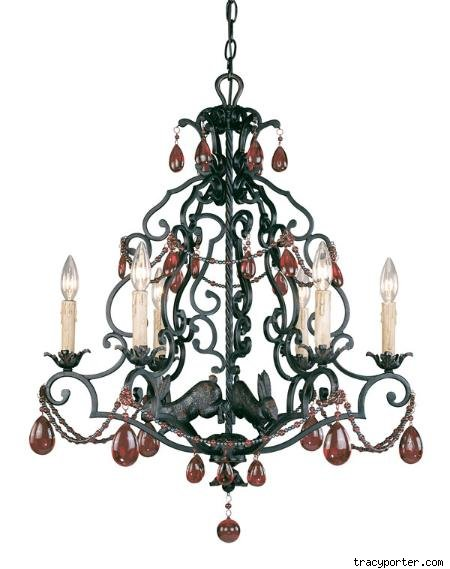Tracy Porter Scarlet Small Six Light Chandelier, $663