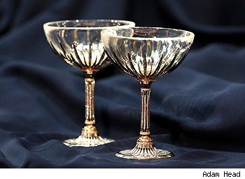 $400,000 Diamond Champagne Glasses