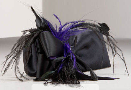 Christian Louboutin Cancan Feathered Satin Clutch