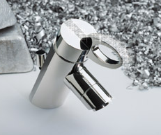 The diamond studded faucet