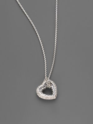 Petite Heart Pave Necklace