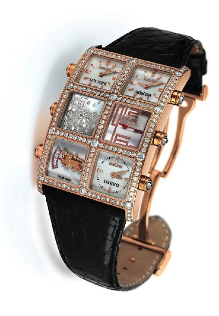 IceLink Floating Diamonds Watch