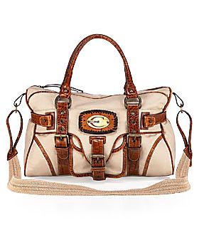 Just Cavalli Croc-Trimmed Weekender