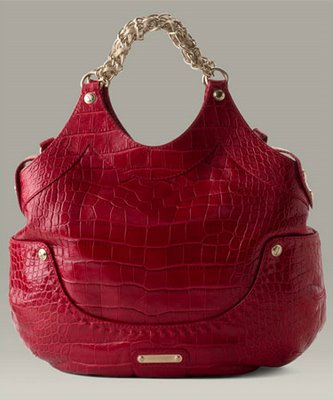 Versace 'Kiss' Crocodile Embossed Shopper