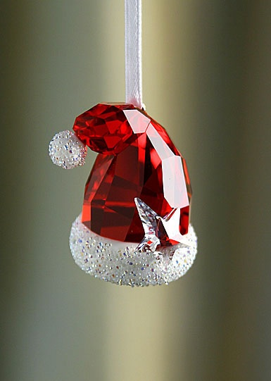 Swarovski Crystal Santa's Hat Ornament
