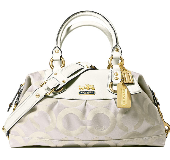 Coach Op Art Sabrina in Brass/Parchment