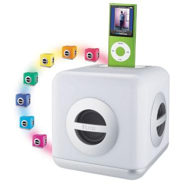 LED Color Changing Stereo System with Built-in Subwoofer For Your iPod