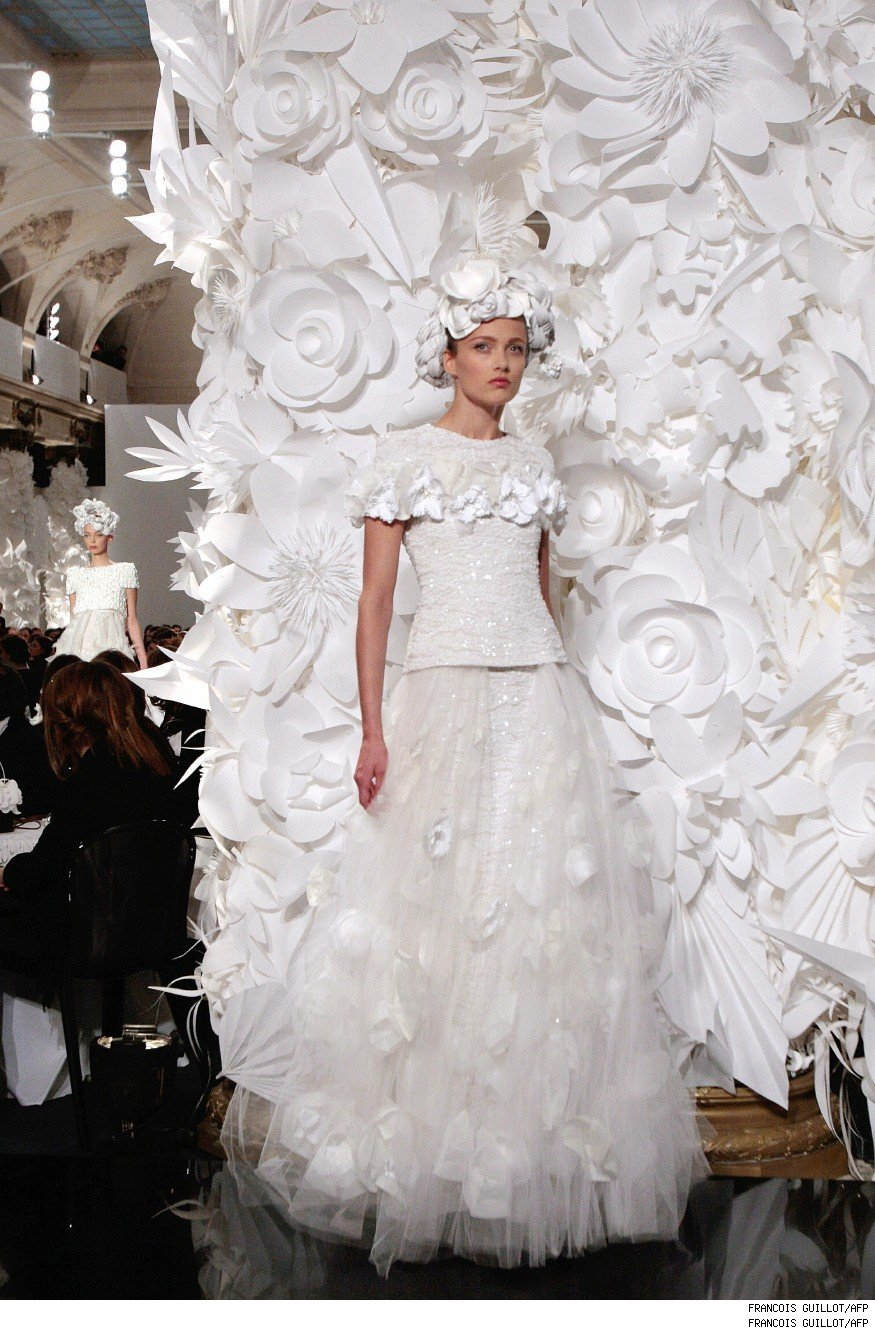 Chanel Goes Crazy for Camelias - Luxist :  chic design show couture
