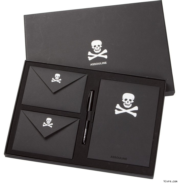 Skull Stationery by Assouline