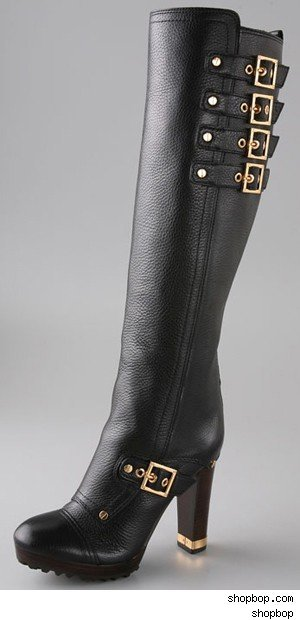 Tory Burch Motorcycle High Heel Boot