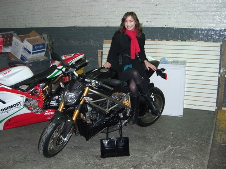 Annie Scott on the Ducati Streetfighter