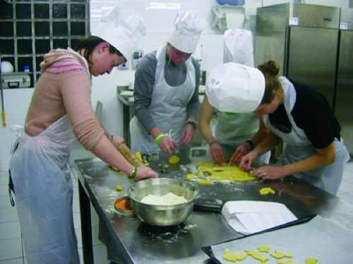 Cooking class, Italy