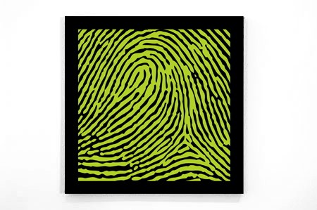 A fingerprint in a gorgeous color combination