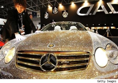 Swarovski studded Mercedes Benz