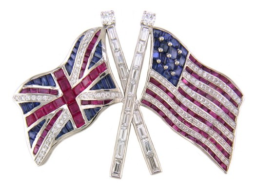 British & American Flag Pin