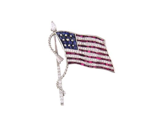 Large American Flag Pin