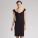 Carolina Herrera Organza Trim Dress