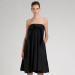 Yves Saint Laurent Strapless Poplin Dress