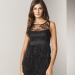 Phoebe Couture Sheer Lace Tiered Dress