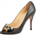 Prada Peep-Toe Jeweled Pump