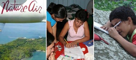NatureKids, supported by Nature Air in Costa Rica