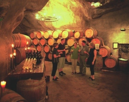 Gibbston Valley wine cave, New Zealand