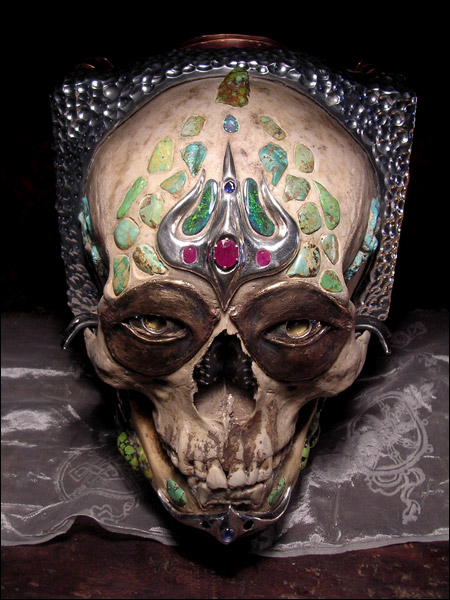 Bejeweled Tibetan Skull Camera - Luxist :  skull clothing cameras art weird