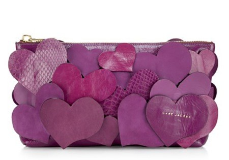 marc jacobs big heart clutch