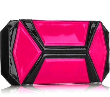 mcqueen neon panel clutch