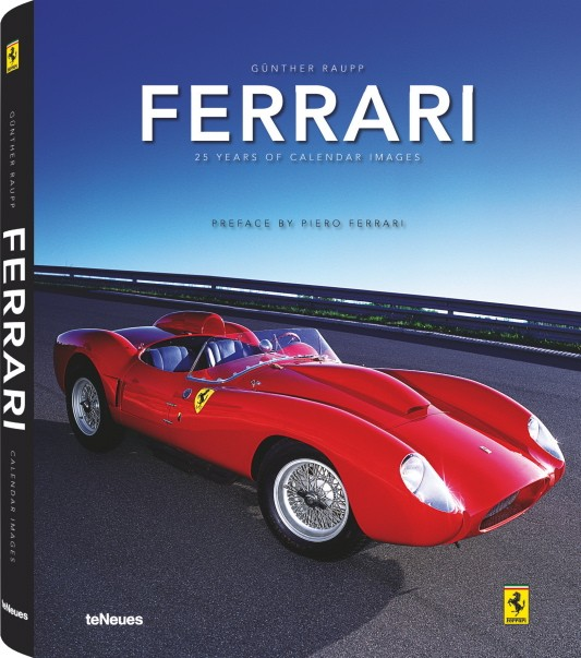 The book's cover, showing a 1958 250 Testa Rossa