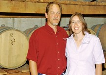 Clyde and Katie Gill of Peaceful Bend Winery