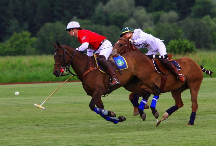 Lynn playing polo