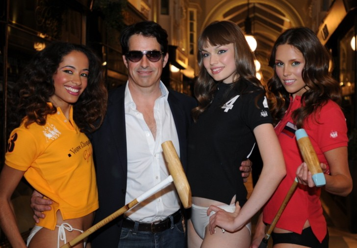 Founder Johnny Lynn and Polo Babes Outside the Burlington Arcade Store