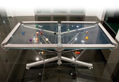 g1 glass pool table