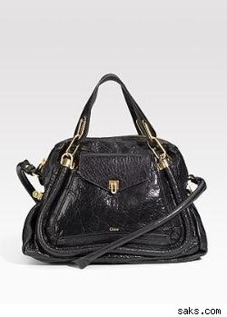 Chlo Paraty Lambskin Shopping Satchel