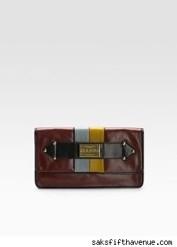 L.A.M.B. Orissa Tri-Color Clutch