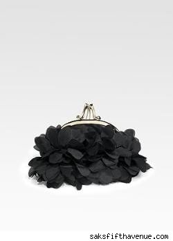 Christian Louboutin Satin Petal Bag