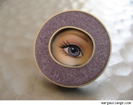 Lavender Eye Pin