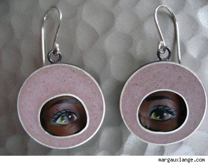 Lavender Eye Earrings