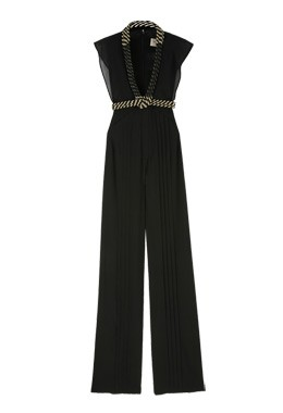 Jasmine Di Milo Pleated Silk Jumpsuits