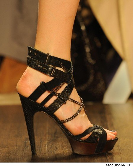 shoe at the Herve Leger show