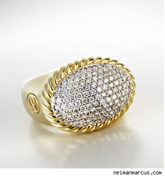 David Yurman Oval Pave Ring